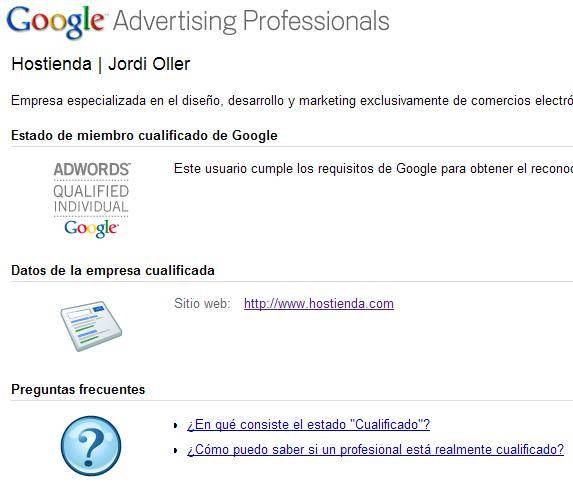 cualificado adwords
